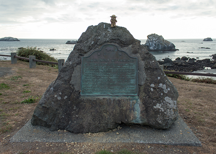 Site of Old Indian Village at Pebble Beach, Crescent City!