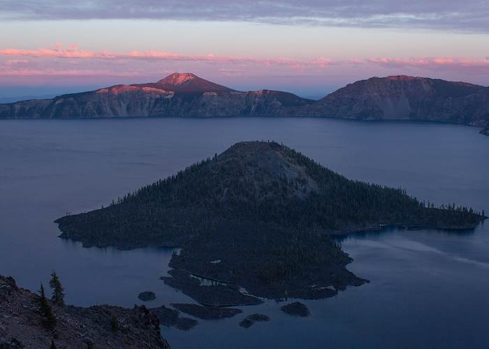 Crater Lake from Two Peaks!